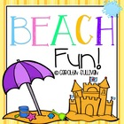 Beachy Fun- Math and Literacy Centers with Common Core Sta