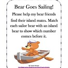 Bear Goes Sailing!  File Folder Game