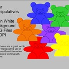 Bear Manipulative Clipart Set