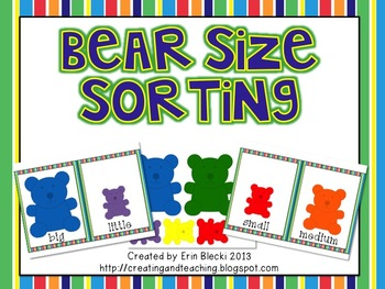 Bear Size Sorting
