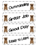 Bear Themed Behavior Clip Chart Packet