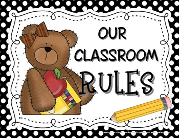 Bear-Themed Classroom Rules Posters