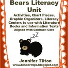 Bears Literacy Unit Activities, Chart Pieces, Literacy Cen