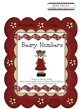 Beary Numbers! - Kindergarten - File Folder Game