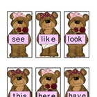 Beary Sweet Valentine Sight Word Game