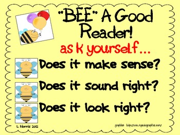 Bee A Good Reader Metacognition Poster