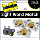Bee Matching Grade Three Dolch Sight Words