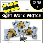 Bee Matching Grade Two Dolch Sight Words