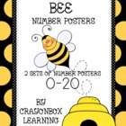 Bee 10-Frame Number Poster Set - Numbers 0-20