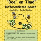 """Bee"" On Time Differentiated Scoot or Task Cards (1.MD.3,"