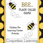 Bee Place Value Learning Center Game - Common Core - Math