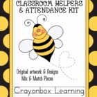 Bee Theme Classroom Helpers & Attendance Kit