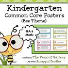 Bee Theme Kindergarten Common Core Posters (ELA and Math)