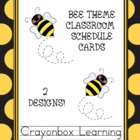 Bee Theme Schedule Cards Set  { 2 Styles }