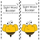 Bee Theme Student Sight Word Booklet {Fry's second 100 words}