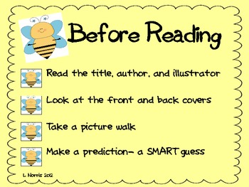 Bee a Good Reader  Reading Process Poster Set