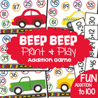 Beep Beep - Math center Game - Adding Two Digit Numbers