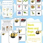 Bees, Bugs and Mini Beasts Themed Blank Classroom Labels -