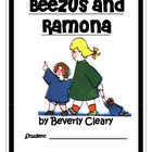 Beezus and Ramona, by Beverly Cleary: A Novel Study
