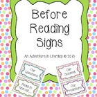Before Reading Signs-Predictions, Schema, Purpose, Questions