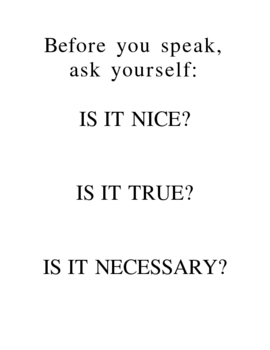 Before You Speak (Poster about respect)