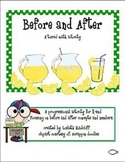 Before and After - a tiered math activity