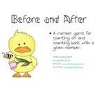 Before and After the Chick a counting on and counting back game