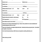 Beg of Yr Student Parent Info Sheet