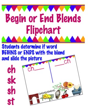 Begin or End Blend Flipchart -  ch , sh, sk, & st