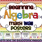 Beginning Algebra Math Wall Posters
