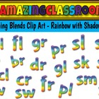 Beginning Blends Clip Art Rainbow Style