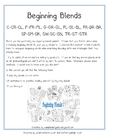 Beginning Blends Combo Pack-Sorts and Worksheets