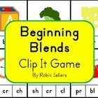 Beginning Blends and Digraphs Clip It Game