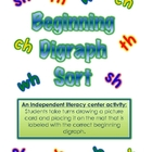 Beginning Digraph Sort-An Independent Literacy Center Activity