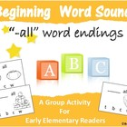 "Beginning Letter Sounds: An Interactive Game Using ""-all"" Endings"
