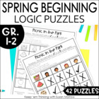 Beginning Logic Puzzles and Activities - Spring Themed grades 1-3