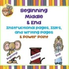 Beginning, Middle, and End Story Writing Lesson, PPt, 70 S
