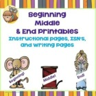 Beginning, Middle, and End Writing PDF Lesson