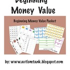 Beginning Money Value Packet