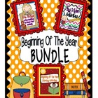 Beginning Of The Year Activities BUNDLE: 3 Beginning of th