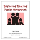 Beginning Reading: Family Homework