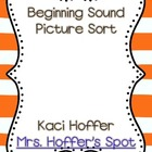 Beginning Sound Picture Sort {Cut and Paste}
