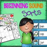 Beginning Sound Sort Pack for Prek and Kinder