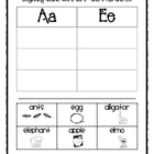  Beginning Sound Word Sorts (short vowels a and e)