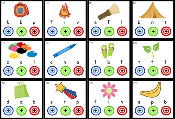 Beginning Sounds Bull's Eye Poke Game