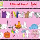 Beginning Sounds Clipart Set - Graphics for Commercial Use