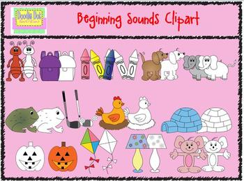 Beginning Sounds Clipart Set Volume 1