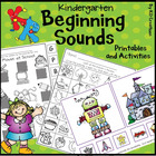 Beginning Sounds for Kindergarten * Printables and Cards