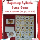 Beginning Syllable Identification: Bump Game with Syllable