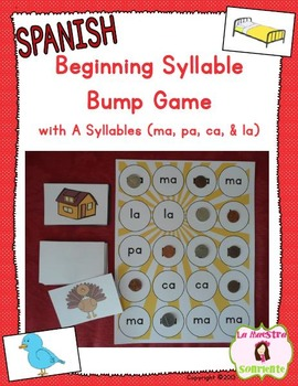 beginning syllable bump game